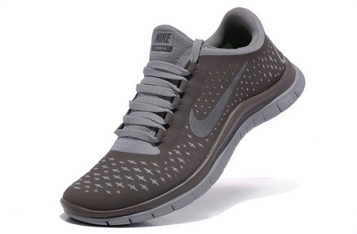 Nike Free Run 3.0 V4 Womens Coffee Silver Grey Reduced